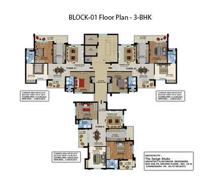 block-01 floor plan 3bhk